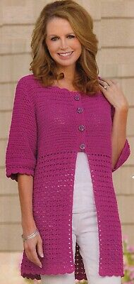 Vintage Crochet Pattern Ladies Summer Topsweater Pattern Only 4 Ply