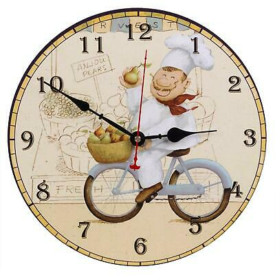 Silent Wooden Wall Clocks For Living Room Kitchen Lounge Vintage Retro Style