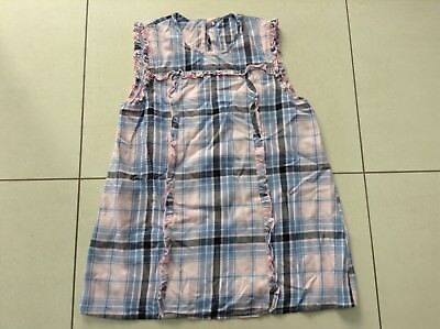 Girls Checked Top Blue/Pink 12-13 Years