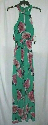 101d86301 City Studios Juniors Printed Floral High-Low Dress Green/Pink Size Small