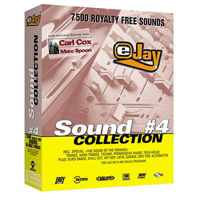 🥇 eJay Sound Collection 4, 7500 sounds WAV HQ samples and Loop DAW Create Music