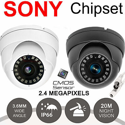 Dome / Bullet CCTV Camera 2.4MP 4 IN 1 TVI CVBS HD 1080P Sony Lens Night Vision