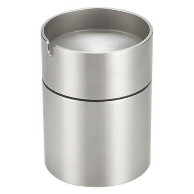 Stainless Steel Car Smokeless Ashtray Holder Windproof Business Gift W/ Lid Q5P9
