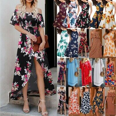 Women's Holiday Mini Playsuits Ladies Jumpsuits Beach Summer Dress Size 6 - 14