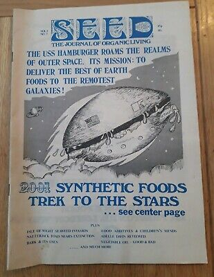 Rare SEED The Journal of Organic Living Magazine 1973 Vol 2 No 7 Good Condition