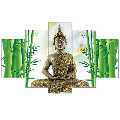 Framed Modern Buddha Fengshui Painting Prints on Canvas Wall art Home Decor