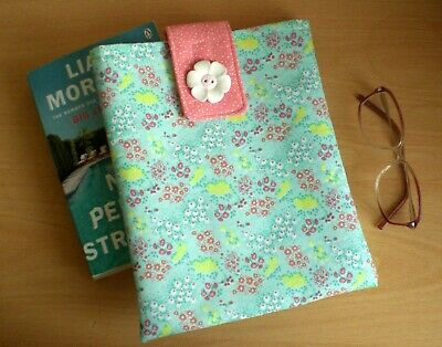 Handmade Book Sleeve / Cover / Protector Fabric Floral Gift