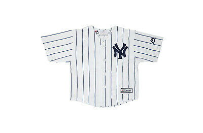 Majestic Toddlers Infants Babies New York Yankees White Navy Jersey