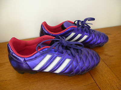 CRAMPON CHAUSSURES de Foot VioletBlancRose Adidas Pro TRX FG Taille 38 TBE