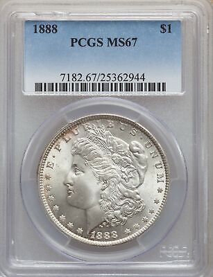 1888 US Morgan Silver Dollar $1 - PCGS MS67
