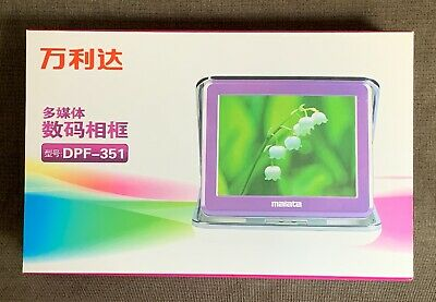 "Polaroid 3.5"" Digital Clock Calendar Alarm Photo Album Picture Frame Pink"