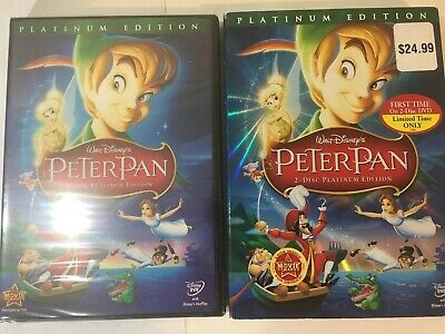 Peter Pan (DVD, 2007, 2-Disc Set, Platinum Edition) New Disney Buena Vista stamp