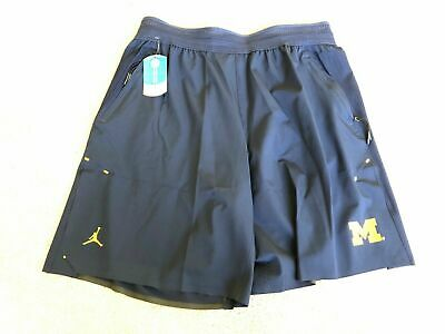 395b3dce2e7 Jordan University of Michigan Football Navy 23 Tech Dry Knit Shorts Mens  2XL XXL