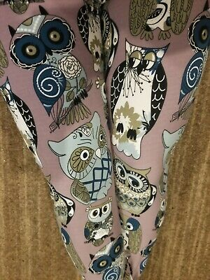 ca714d32d89f4 TT2 TC2 Leggings Plus Size Soft Light Grey w Animal Bird Owls 18-22 3x