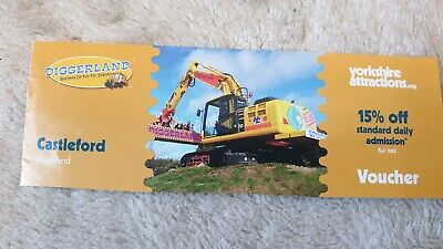 Diggerland Voucher Coupon. 15% off  admission. NOT FOR ONLINE USE. Til 03/11/19
