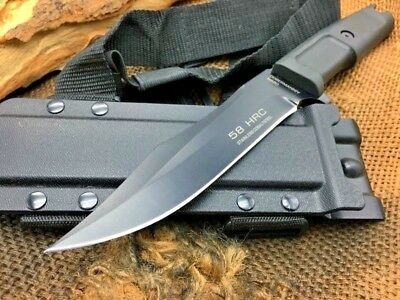 Tactical Long Fixed N690 Steel Blade Survival Camping Hunting Knife Sheath 58HRC