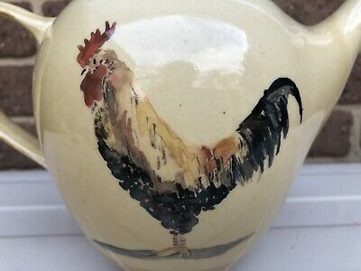 Robert Gordon Pottery Teapot Rooster Country Life