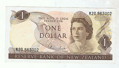 New Zealand $1 Paper Banknote