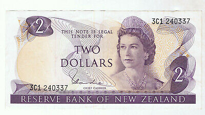 New Zealand $2 Paper Banknote