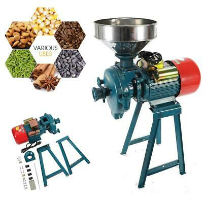 Electric Mill Wet Dry Cereals Grinder Corn Grain Coffee Wheat Machine + Funnel