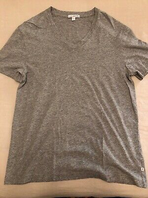 a55fdae29 JAMES PERSE MEN'S Short Sleeve Clear Jersey V Neck T-Shirt Grey USA ...