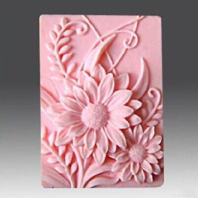 DIY 3D Sunflower Silicone Mold Fondant Soap Candle Mould Decorating Tool B