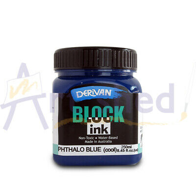 Derivan Block Ink 250ml - Phthalo Blue