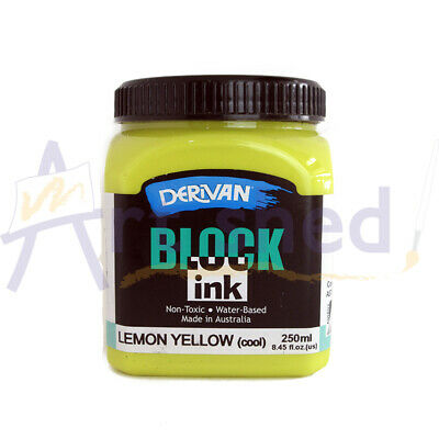 Derivan Block Ink 250ml - Lemon Yellow