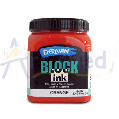 Derivan Block Ink 250ml - Orange