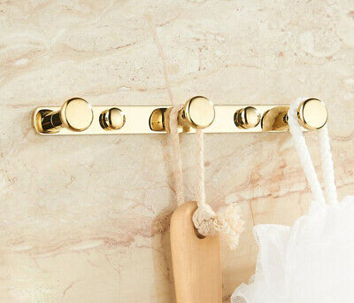 Brass Bathroom Wall Mounted Hooks Hanger Bath Towel Clothes Accessories Holder