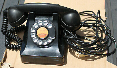 Antique Bell Western Electric F1 Handle Black Rotary Telephone Phone Art Deco