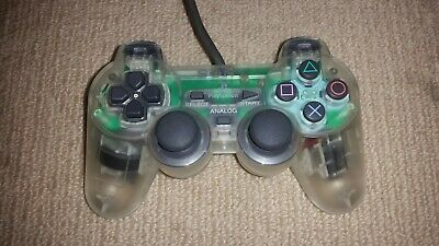 Sony Playstation 1 PS1 Dualshock Analog Controller Clear, SCPH-1200