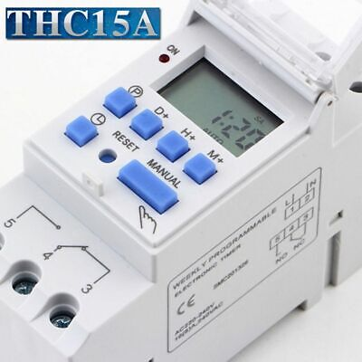Electronic Home Weekly Relay Switch Timer Time Control Programmable LCD Digital