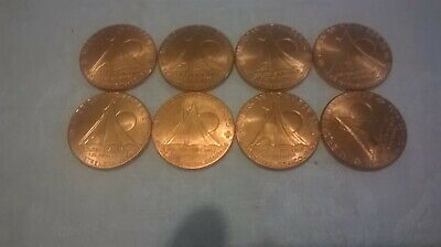 1 Ounce .999 Copper American Indian Series(8 Coins) Golden State Mint