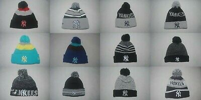 innovative design d5a28 9d652 New Era MLB New York Yankees Team Men s Knit Cuffed With Pom Hats Caps  Beanie
