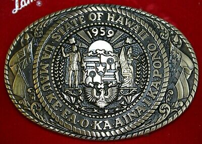 Vintage Tony Lama State Series Collection Belt Buckle First Edition Hawaii