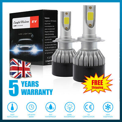 H7/H4/H11/H1/9006 300W 36000LM LED Headlight High/Low Car Bulbs CREE 6000K IP67