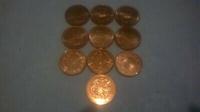 1 Ounce .999 Copper Various Coins(10 Coins) Golden State Mint