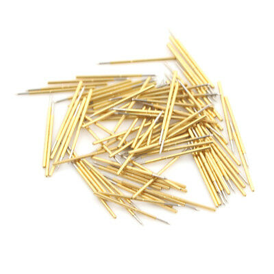 100X P50-B1 Dia 0.68mm Length 16mm 75g Spring Pressure Test Probe Pogo Pin DI