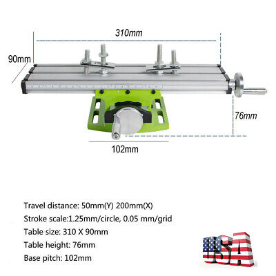 Multifunction Milling Tool Cross Sliding Table Vise for Lathe Bench Drill SALE!