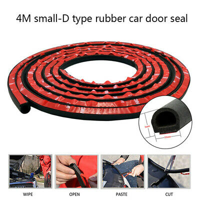 3M D-Shape Rubber Weather Seal Hollow Car Door Strip Weatherstrip Universal