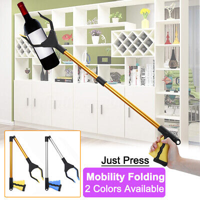 AU 360°Rotating Head Folding Pick Up Tool Reaching Grabber Stick Extend Reacher