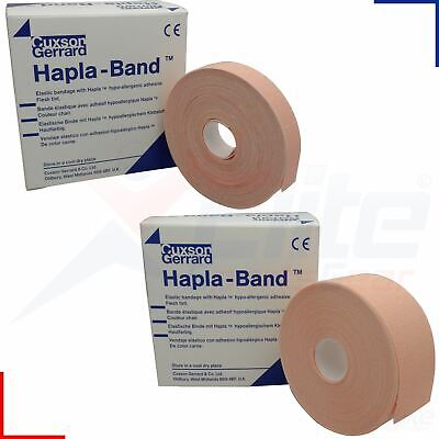 Hapla-Band 1.25cm or 2.5cm x 10M Rolls Stretchable Thin Hypoallergenic Bandage