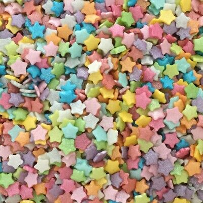 25g Edible Rainbow Micro Stars Sugar Cake Cupcake Decorations Sprinkles