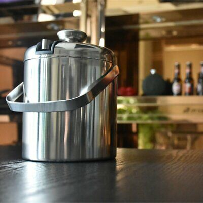 Stainless steel Ice Cube Container Double Walled ice bucket as ice container