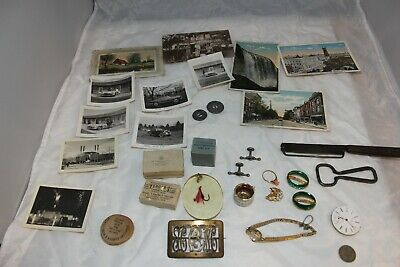 Junk Drawer Lot Opener Postcards Slicer Jewelry Wooden Nickels  Misc