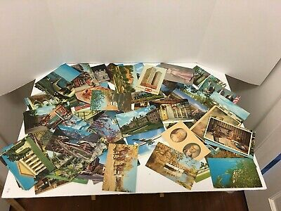 Lot of Approximately 90 Vintage Picture Postcards Posted and Unposted