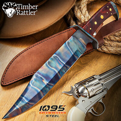 "12.5"" TACTICAL 1095 Steel Hunting Army SURVIVAL FIXED BLADE KNIFE Bowie w SHEATH"