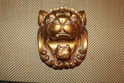 Heather Ann Lion Bust Curtain Rod Holder Tie Back #2 Rococo Wood USA Made