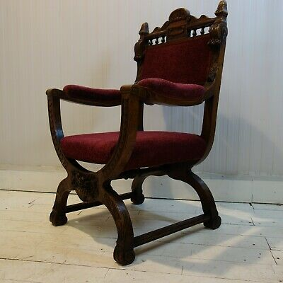 Victorian Gothic Chapel Chair
